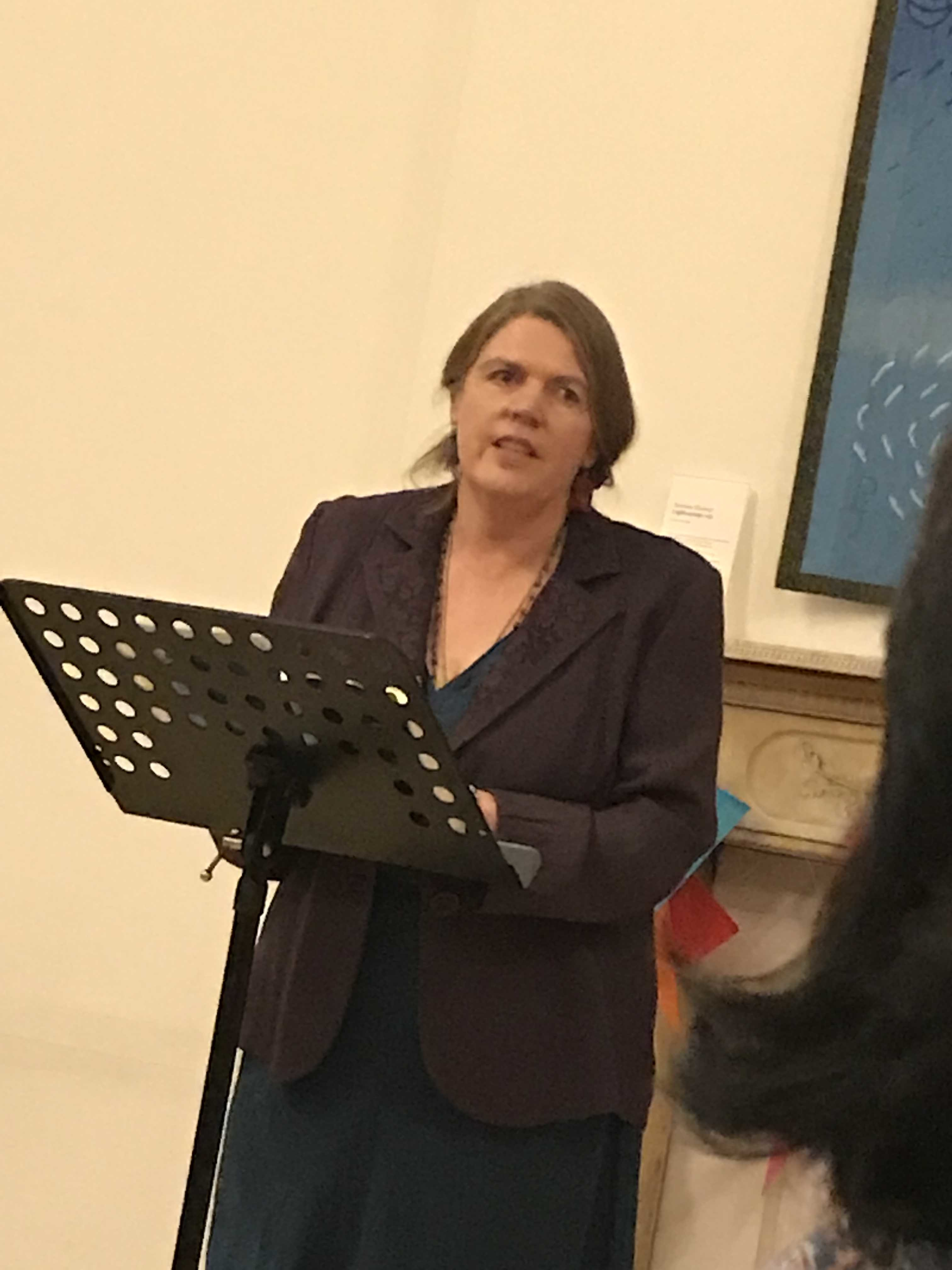 Jane reading at What is Life Conference TCD